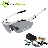 Поляризационные очки для рыбалки с 5-ти линзами и защитой UV400 Белый