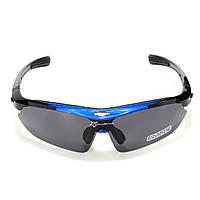 Поляризационные очки для рыбалки с 5-ти линзами и защитой UV400 Чёрно-синий