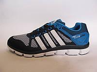 Кроссовки мужские  Adidas Feather Prime текстиль, синие с голубым (адидас)р.41