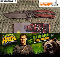 Нож тактический Гербер (Gerber) Bear Grylls - полуавтоматический. Клипса для ношения.