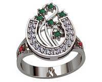 Кольцо серебряное Подкова 103 90