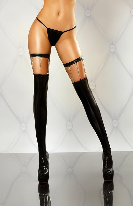 Эффектные чулки с цепочками Chain stockings Lolitta
