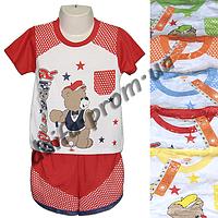 Котоновый летний костюм для мальчиков M5 (1-4 года) оптом со склада в Одессе