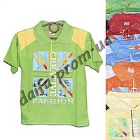 Детская котоновая футболка поло MR1 (3-7 лет) оптом со склада в Одессе (7км).