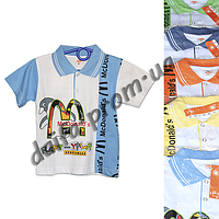 Детская котоновая футболка поло MR5 (3-7 лет) оптом со склада в Одессе (7км).