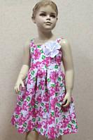 Нарядное летнее платье для девочки.Хлопок.
