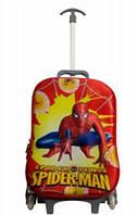 Детский чемодан на 6 колесах Spider -man