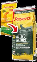 Josera (Йозера) Active Nature Fleisch & Reis (Мясо и Рис) сухой корм для взрослых собак, 15кг.