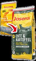 Josera Ente & Kartoffel (Утка и Картофель) сухой корм без злаков для взрослых собак 15кг