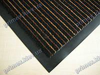 Коврик грязезащитный Полоска Два цвета, 60х90см., коричневый с бежевым