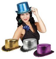 Шляпа Цилиндр серебро