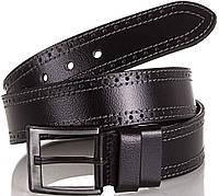 Элегантный мужской кожаный ремень Y.S.K. (УАЙ ЭС КЕЙ) SHI726-2 черный