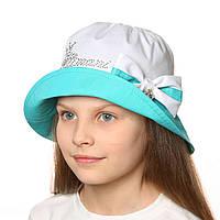 Летняя шляпка панамка для девочки.Хлопок.52р, фото 1