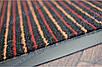 Коврик грязезащитный Полоска Два цвета, 40х60см., оранжевый с красным, фото 5