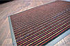 Коврик грязезащитный Полоска Два цвета, 40х60см., оранжевый с красным, фото 3