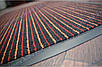 Коврик грязезащитный Полоска Два цвета, 60х90см., оранжевый с красным, фото 2