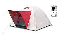 Палатка 3-х местная SY-014 (р-р 2,0х2,0х1,35м, PL, с тентом)