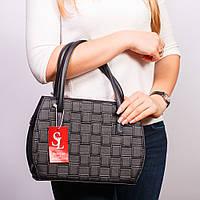 Полукруглая черная сумочка женская оригинальная №1334st