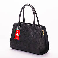 Классическая черная сумка женская каркасная стеганая