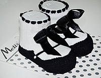 Носочки с бантиком Хлопок р.0-6 мес.