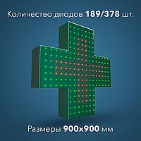 Световой аптечный крест Real 378 светодиода, размер 900 х 900 мм
