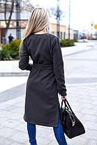 Х8004 Пальто кашемир+мех в расцветках, фото 2