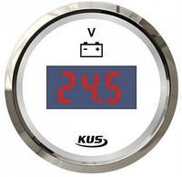 Вольтметр с световой индикацией заряда батареи. 52 мм.