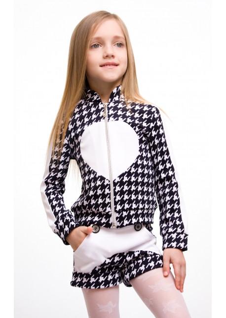 """Детский костюм """"Сердце"""" кофта+лосины+шорты"""