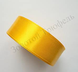 "Атласная лента для декора ""Желтая"" h-2.5см"