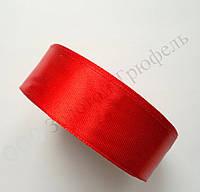 """Атласная лента для декора """"Красная"""" h-2.5см"""
