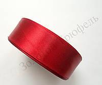 "Атласная лента для декора ""Темно-красная"" h-2.5см"
