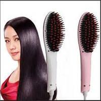 Электрическая автоматическая расческа выпрямитель Fast Hair Straightener с ионизацией белая