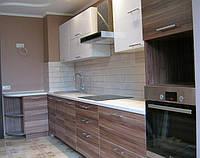 Кухня МДФ белый глянец/слива, фото 1
