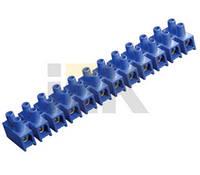 Зажим винтовой ЗВИ-10 н/г 2,5-6мм2 12пар ИЭК синие