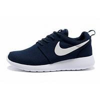 Кроссовки Nike Roshe Run темно-синие (Найк Роше Ран)