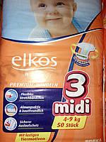 Подгузники Elkos Premium 3 (4-9 кг), 50 шт
