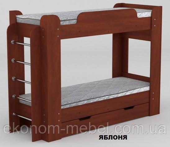 Кровать двухэтажная Твикс для детей и подростков с выдвижными ящиками