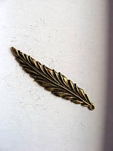 Підвіска металева. Довгий листочок