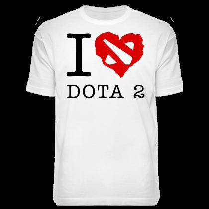 Футболка «Я люблю Dota 2»