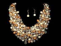 Ожерелье набор кристаллы и бусины