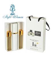 Подарочный набор мини парфюмерии Gucci Flora by Gucci Гуччи Флора Бай Гуччи с феромонами 3*15мл