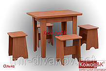 Стол + 4 табурета цвет Ольха