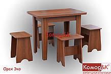 Стол + 4 табурета цвет Орех Эко