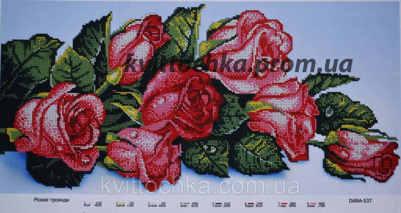 """Схема для вышивания бисером """"Розы"""""""