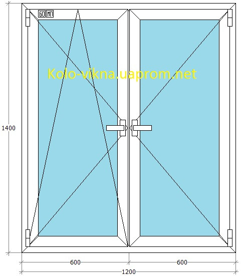 Металлопластиковое окно со штульповым открыванием WDS