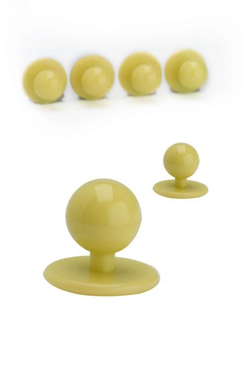 Пуговицы поварские (пукли) комплект из 10 шт. (желтые)