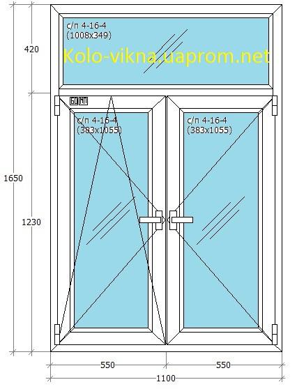 Т-Образное Штульповое окно WDS в ирпене