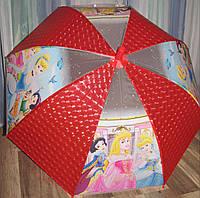 Зонт трость детский для девочек ,поливинил Италия, на возраст 4-10 лет
