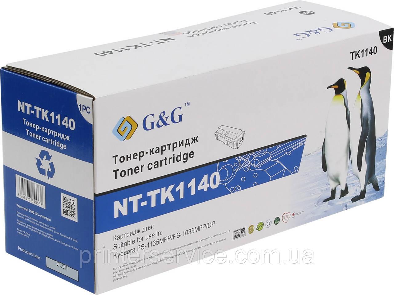 TK-1140 совместимый картридж (аналог) для Kyocera FS-1135/ 1035, G&G-TK1140 black