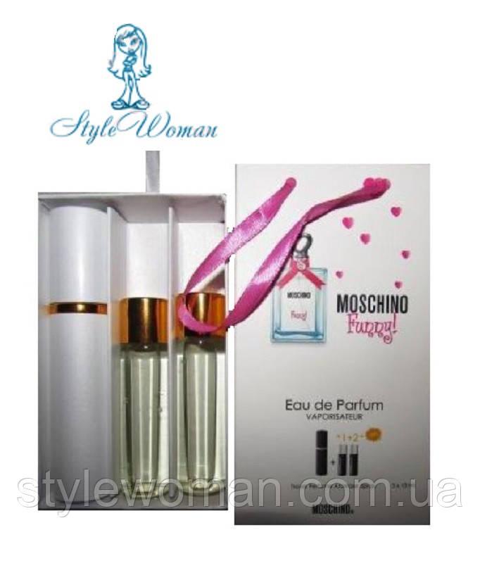Подарочный набор мини парфюмерии Moschino Funny Маскино Фанни с феромонами 3*15мл Реплика